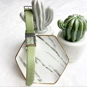 Fossil F2 Green Leather Wrist Watch